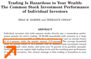 Overtrading can cause lower returns