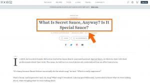 The hunt for special sauce
